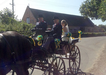 Norfolk weddings Horse drawn carriage