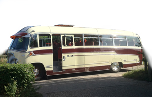 Norfolk wedding Vintage bus